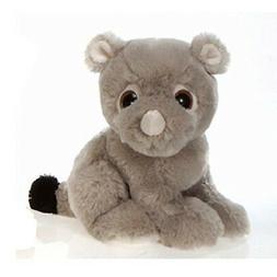 """9"""" Sitting Rhino with Big Eyes Plush Stuffed Animal Toy by F"""