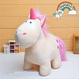 Adorable Unicorn Horse Plush Fluffy Stuffed Animal Cartoon D