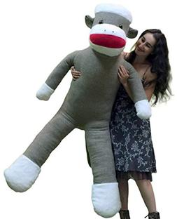American Made Plush Giant Sock Monkey 6 Feet Tall Soft Huge