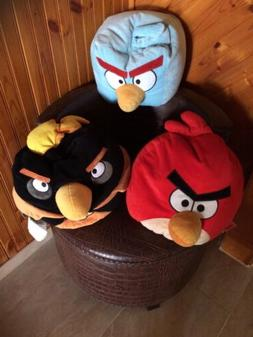 "Angry Birds Stuffed Animals Red, Black & Blue Birds 14"" U Ge"