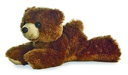 Aurora Plush Barnsworth Bear Flopsie Plush, Brown, 8""