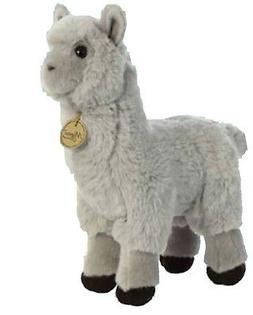 "Aurora World Miyoni Plush Toy Animal, Alpaca, Grey, 12"""