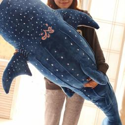 Blue Shark Big Fish Whale Stuffed Plush Cotton Doll Child Bi