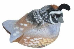 CALIFORNIA QUAIL Audubon Bird w/ call stuffed animal plush W