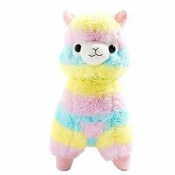 """Cuddly Llama Rainbow Alpaca Doll 7"""" Soft Baby Stuffed Animal"""