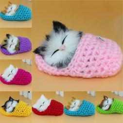 Cute Slipper Kitten Soft Plush Doll Toys w/Sound Stuffed Ani