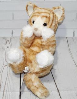 "Douglas Lou Lou ORANGE STRIPED CAT 9"" Plush Handful Stuffed"