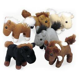 Fun Express Bulk Realistic Horses Plush