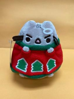 """GUND - 4.5""""  CAT - PUSHEEN IN A HOLIDAY SWEATER"""