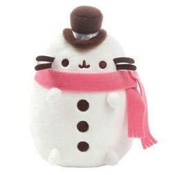 "GUND - Pusheen Christmas Snowman Plush 6"" Stuffed Animal,"