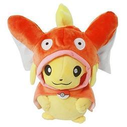 Generic Pikachu with Magikarp Hooded Cape Cosplay Pokemon Pl
