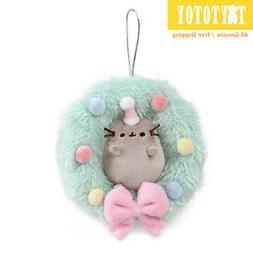 Genuine GUND 4060826 Pusheen Wreath Ornament Plush Toy Stuff