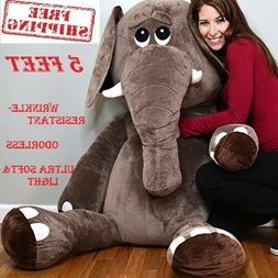 Giant Animal Stuffed Elephant Soft Plush Toy For Kid Bedroom