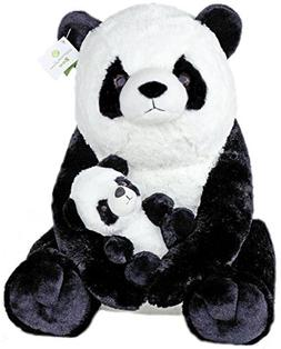 "Giant Pandas Plush Stuffed Animals - 18"" Teddy Bear with Bab"