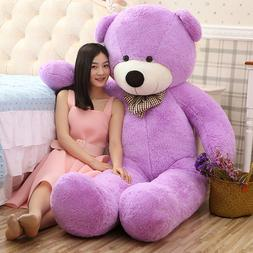 Giant Teddy Bear Purple Huge Stuffed Plush Animals Toy Doll
