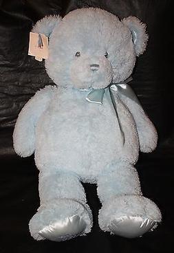 Gund Baby My First Teddy Bear Satin Blue XL Jumbo Plush Stuf