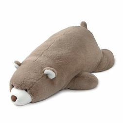 Gund Large Laying Down Taupe Snuffles Teddy Bear Plush Stuff
