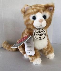 Hallmark-My Best Friend-Tabby Cat-Plush-Stuffed Animal-Blue