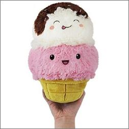 Ice Cream Cone Comfort Food Squishable 7 inch Mini Plush