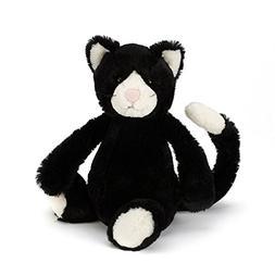 Jellycat Bashful Black and White Cat, Medium, 12 inches