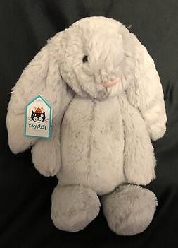"Jellycat Bashful Grey Bunny, Medium - 12"""