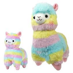 KSB 14'' and 7'' Rainbow alpaca, 100% Plush Stuffed Animals
