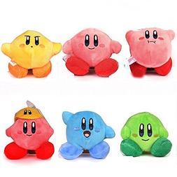FiraDesign Kirby Plush Strap 6pcs Star Doll Stuffed Animals