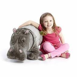 Melissa & Doug Giant Hippopotamus - Lifelike Stuffed Animal