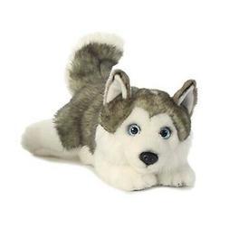 "Miyoni Husky Lying Down 11"" Long Stuffed Animal Play Fun Toy"