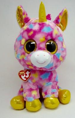 """NWT TY Beanie Large  Boo Fantasia The Unicorn 16"""" Multi Colo"""