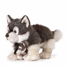 Nat and Jules Wolf Mom and Pup Plush Stuffed Animal Toy Wolv