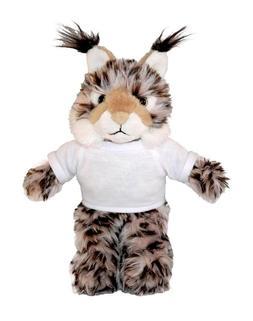 """Personalized 12"""" Lynx Wild Cat Plush Stuffed Animals w/ Impr"""