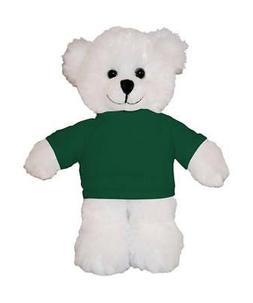 """Personalized 12"""" White Teddy Bear Stuffed Animals w/ Imprint"""