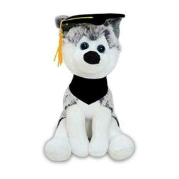 Personalized Husky Dog Plush Stuffed Animals Custom Graduati