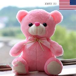 Pink LED Flash Teddy Bear Stuffed Animals Plush Soft Hug Toy