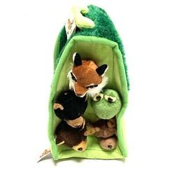 Plush Forest Animal House with Animals - Five  Stuffed Fores
