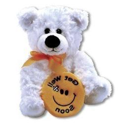 Plush Get Well Soon BEAR ~ 10 Inch Feel Better Bear with a s