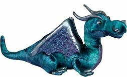 "Plush Jade Blue Dragon 15"""