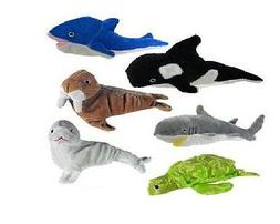 Plush Sea Life Stuffed Turtle, Dolphin, Sea Lion, Whale Anim