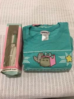 Pusheen Cat 2017 Winter Holiday SweatShrit XL w/ Head Massag