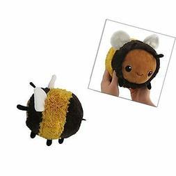 "Squishable Fuzzy Bumblebee Plush, Yellow & Black, Mini 7"""