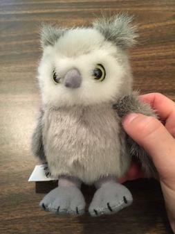 "Stuffed 4.5"" GREY OWL PLUSH Stuffed Animal House GREY SS-1"