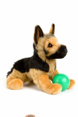 Stuffed Animal Puppy Dog - Plush German Shepard Tan Brown Bl