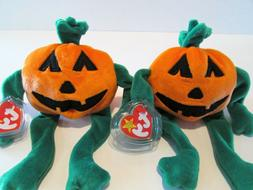TY BEANIE BABIES-2 PUMPKIN TY BEANIE BABIES-COLLECTIBLE STUF