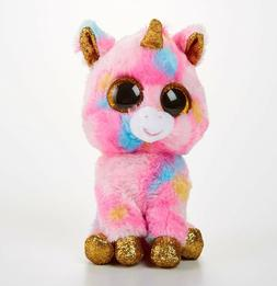"TY Beanie Boos 6"" FANTASIA the Unicorn Plush Stuffed Animal"