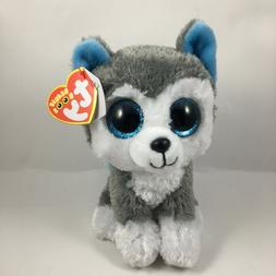 "TY Beanie Boos 6"" SLUSH Husky Dog Plush Stuffed Animal Toy M"