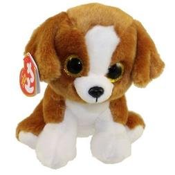 "Ty Beanie Babies 6"" Snicky the Dog Stuffed Animal Plush New"