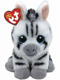 "Ty Beanie Babies 6"" Stripes the Zebra Stuffed Animal Plush N"