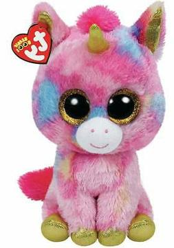 "Ty Beanie Boo Fantasia The Colorful Unicorn 10"" Medium Size"