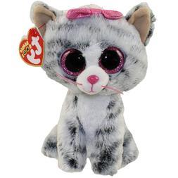 "TY Beanie Boos 6"" KIKI the Grey Cat Plush Stuffed Animal Toy"